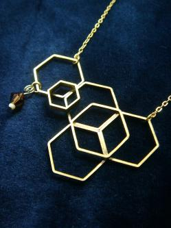 Brand 20 S Hexagon Extensity Necklaces Which Are Made Out Of Brass And Accented With Swarovski Or Glass Beads Were A Best Ing Item In I