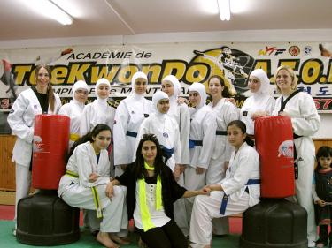 feature sports hijab lets islamic women deal some jabs taipei times. Black Bedroom Furniture Sets. Home Design Ideas