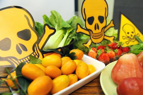 The most pesticide-contaminated fruits and vegetables are . . .