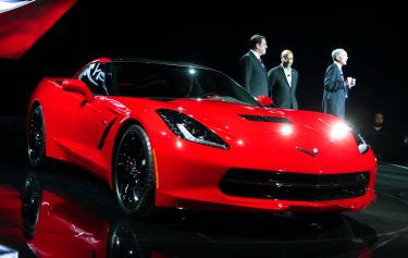 ... Left, Vice President Of Global Design Ed Welburn, Center, And Chevrolet  Corvette Executive Engineer Tadge Juechter Talk About Chevroletu0027s 2014  Corvette ...