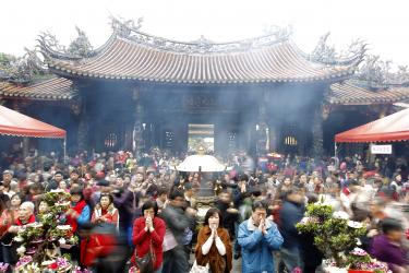 Xingtian Temple pray at Lungshan temple in