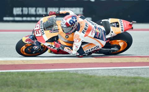 Marquez wins Americas for third time in a row - Taipei Times