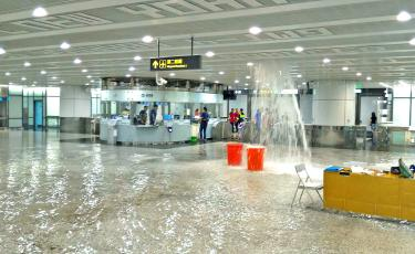 Taoyuan airport's Terminal Two hit by flooding again