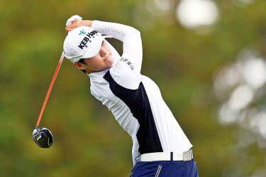 Park Sung-hyun leads after shooting 63
