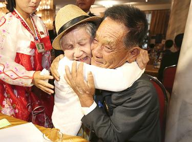 Brief Korean reunions bring tears for torn families