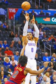 Oklahoma City sweep Cavaliers with 100-83 win