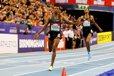 Tefera snatches indoor world record in 1,500m