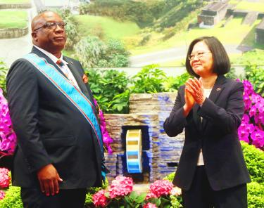 Saint Kitts prime minister in Taipei to improve ties