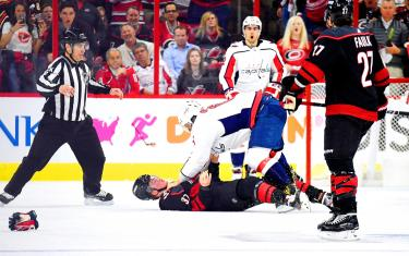 Hurricanes check Capitals' playoff streak with 5-0 win