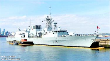 Rare Canadian navy vessel transit confirmed
