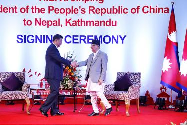 Nepal inks rail and tunnel deals during Xi visit