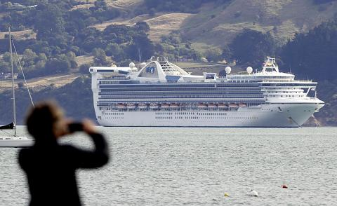 New Zealand tests three passengers onboard liner for virus