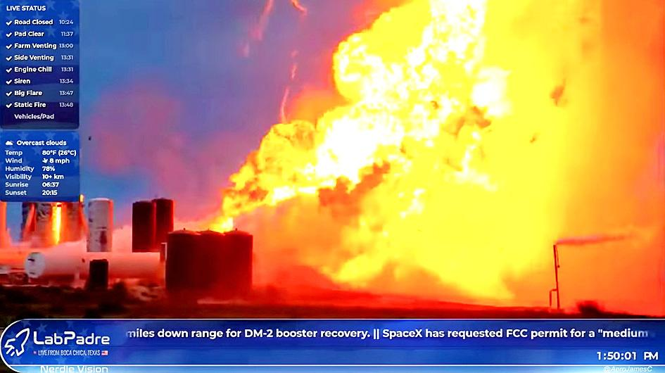 SpaceX Rocket Explodes During Test at the Company's Texas Coast Facility