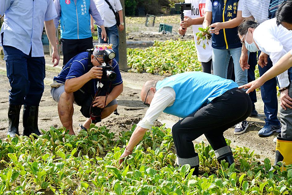 Han ditches presentation to inspect vegetable farms