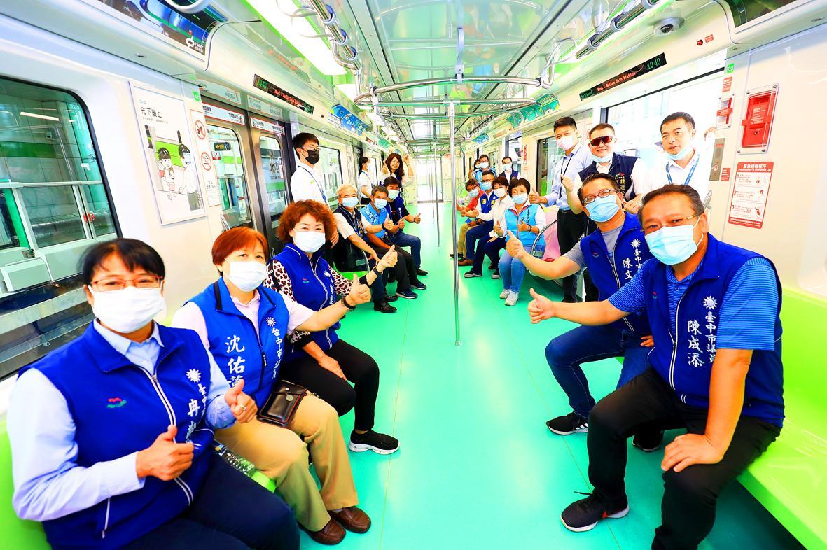Taichung MRT to launch this year, Mayor Lu says
