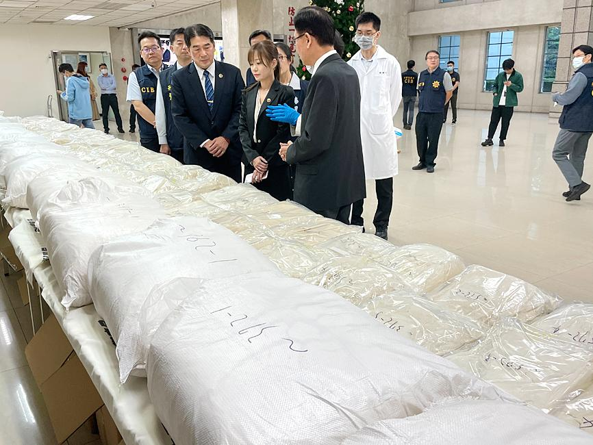 Nearly 700kg of ketamine seized at Taoyuan airport