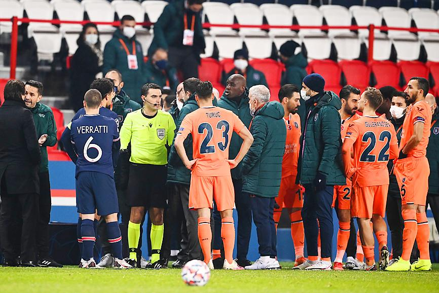 PGG v Basaksehir suspended over alleged racist incident from fourth official