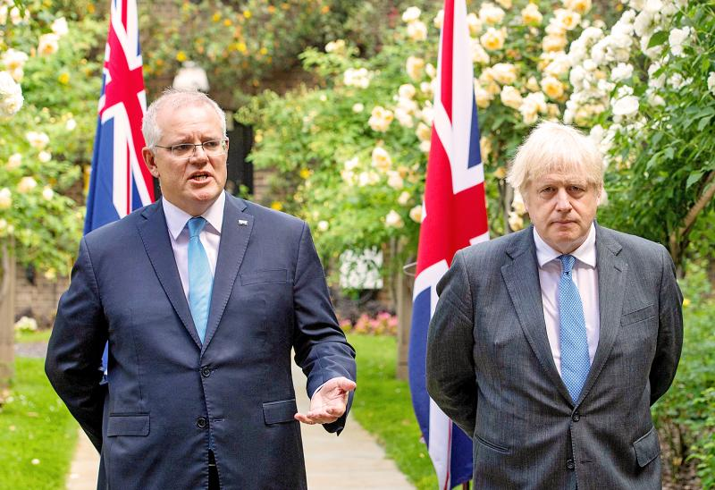 UK and Australia agree post-Brexit free-trade pact - Taipei Times